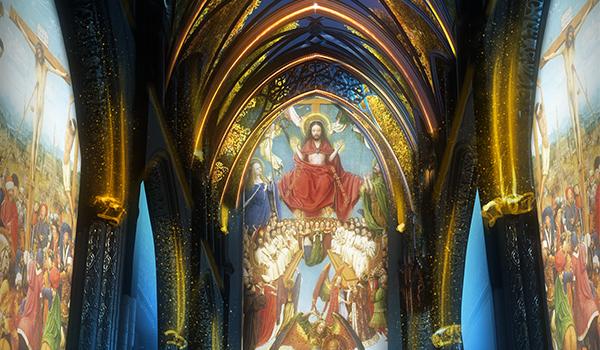 Lights on Van Eyck render